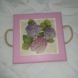 Small tray with Hydrangea